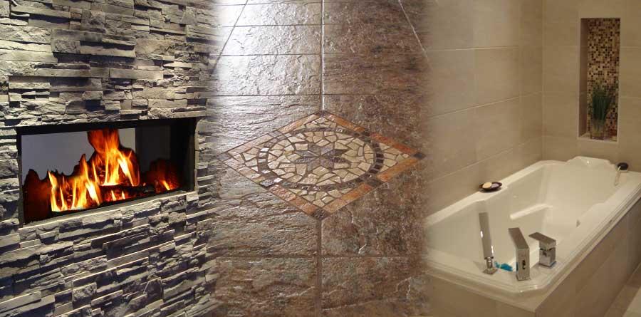 Pose de ceramique pose de carreau de ceramique poseur de ceramique carreleur plancher de - Plancher ardoise cuisine ...